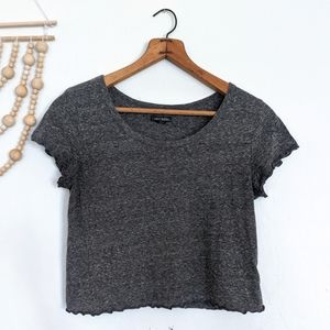 Wild Fable Heathered Gray Crop Top